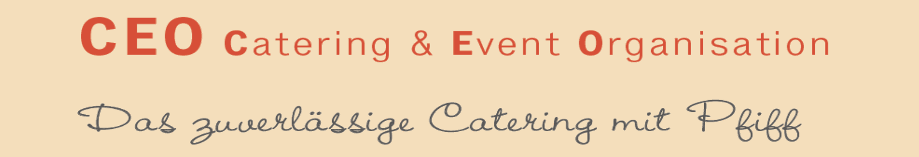 Catering & Event Organisation Logo